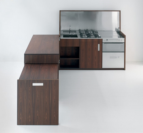 Box Kitchen: Clever Portable Counter, Cabinets & Cooker ...