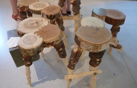 recycled wood furniture design