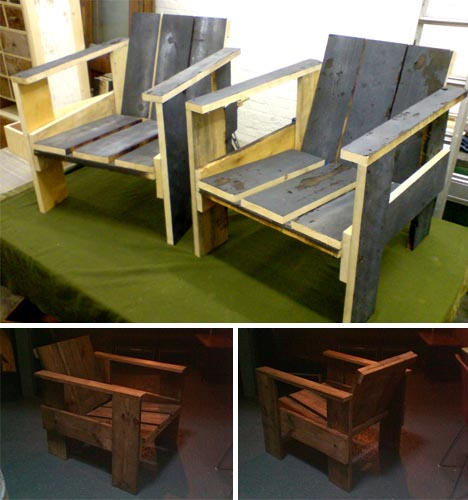salve wood crate chairs