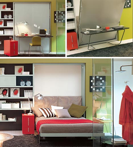 transforming hidden bed desk