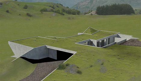 Underground Home Design Idea Towards An Evolving Townplan Invisible Set Of  Green Homes To Be.