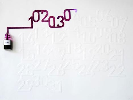 wall calendar diy idea