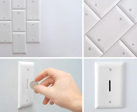 Decorative Electrical Wall Plates 5 offbeat outlet plates & strange cord-hiding solutions