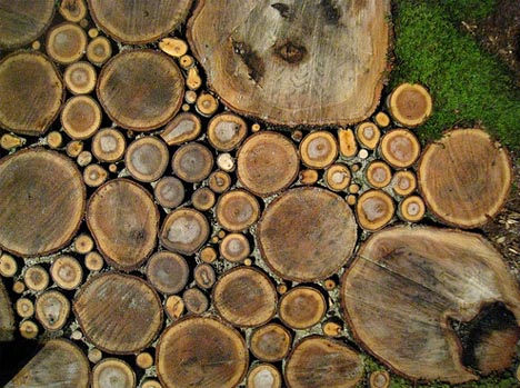 wood natural path patio design - Home Patios Designs