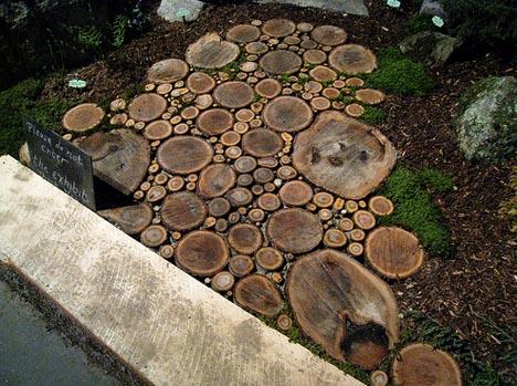 wood patio deck design idea