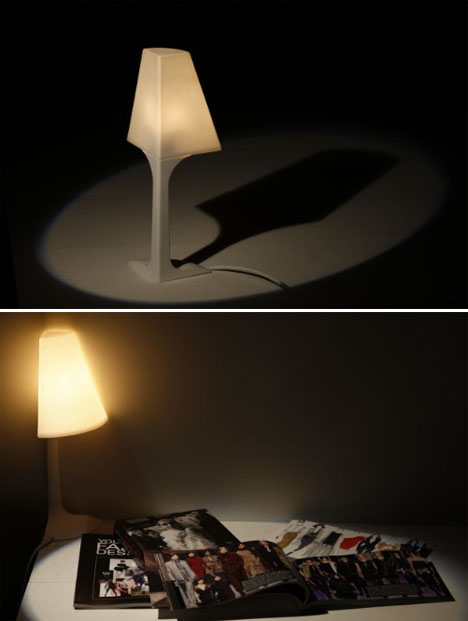 corner lamp fixture design
