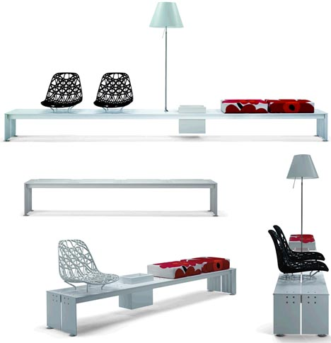 Funky Modular Furniture Contemporary Kit Of Parts Bench