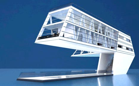 Stylish, Sustainable U0026 Self Sufficient Solar Home On The Sea