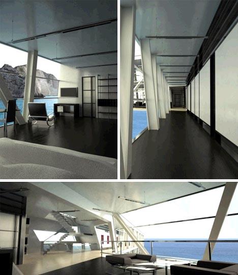 futuristic houseboat design idea