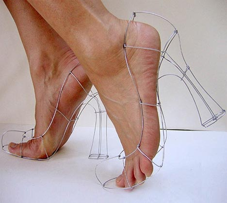 high fashion painful shoes