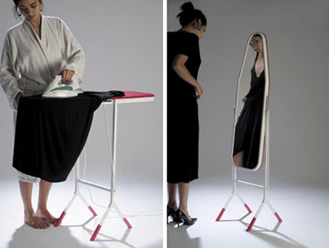 mirror ironing board design