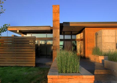 Desert Home Plans | Rustic Modern Earth Wood Steel High Desert Home