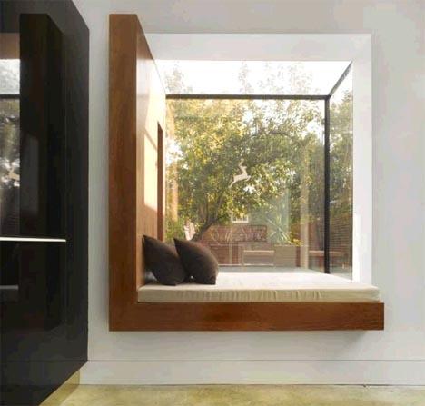modern interior bay window