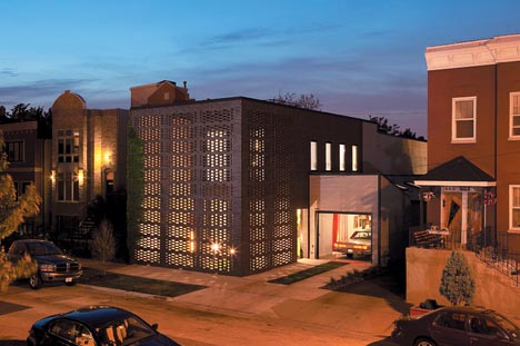 modernist brick home addition