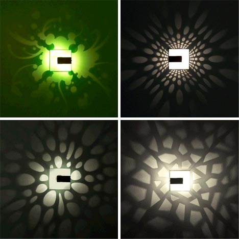 Pattern Light Fixture Designs Cast Stunning Wall Shadows