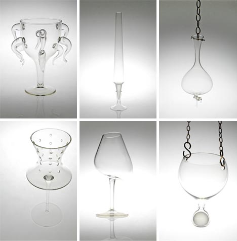 red wine glasses series