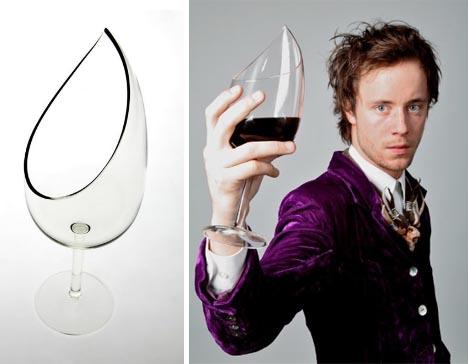 unique red wine glass set