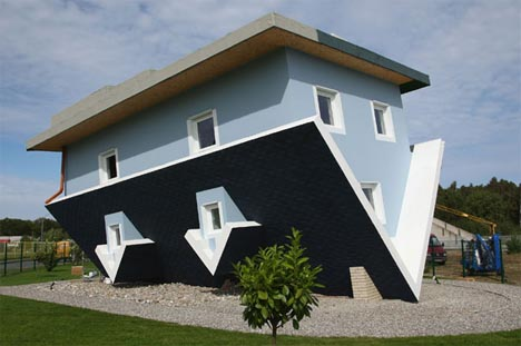 inverted art house designed upside down inside out - Images House Designs