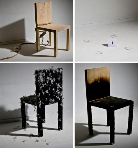 wood chairs destroyed