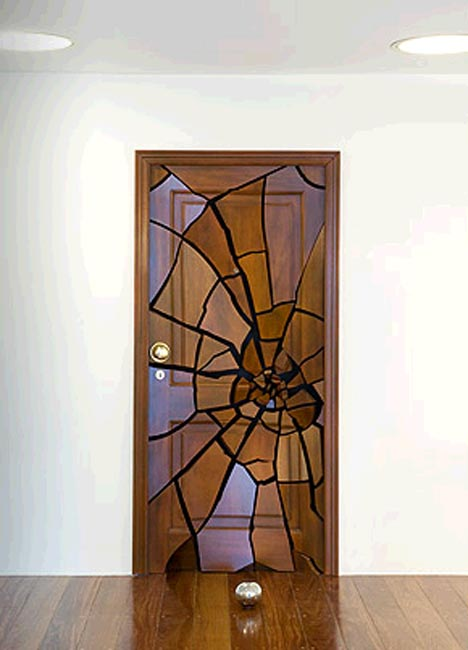 wood door artistic design