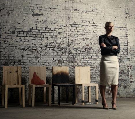 wooden chair artist