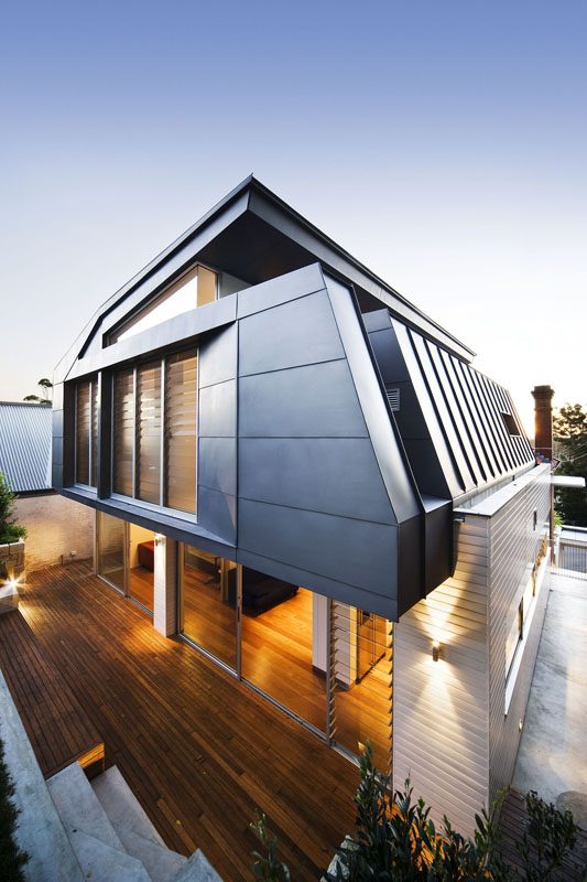 Ultramodern Addition To Traditional Home