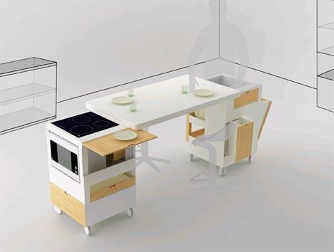 Corner or Central AllinOne Kitchen  Dining Furniture Set