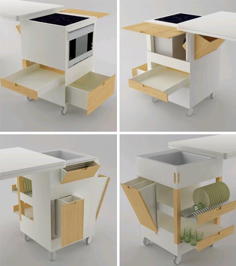 all in one modern kitchen idea