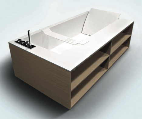 Tub Shelves Bizarre Built In Bath Storage Designs