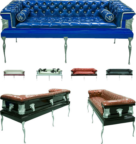 coffin couches and sofas