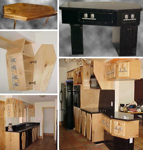 coffin desk table kitchen cabinets