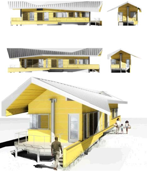 fantastic flood proof house designed to break free float