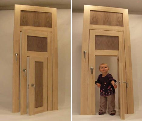 fun wooden door design