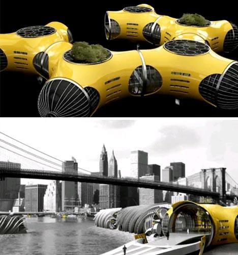 futuristic floating park idea