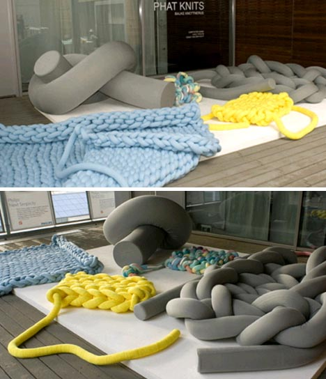 giant knit floor cushions
