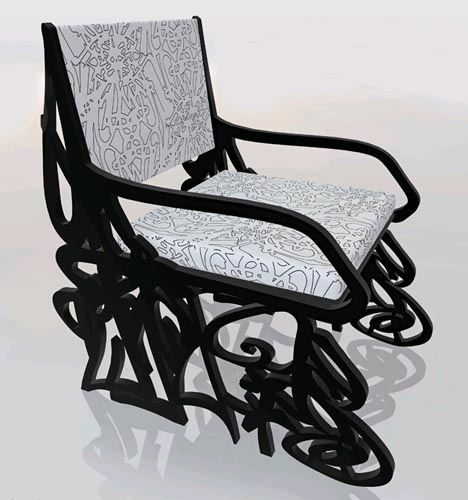 graffiti chair design