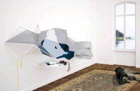 Hanging Furniture: Modular Wall Sofa, Shelving U0026 Storage