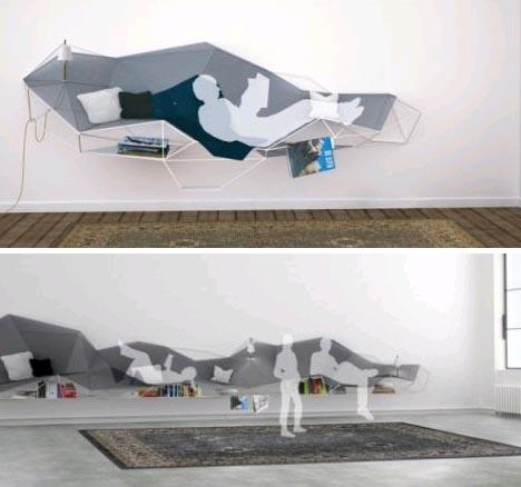hanging wall sofa bed
