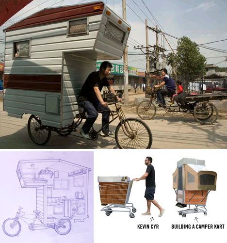 Perfect Small Mobile Homes: Bike Trailers U0026 Shopping Cart Campers