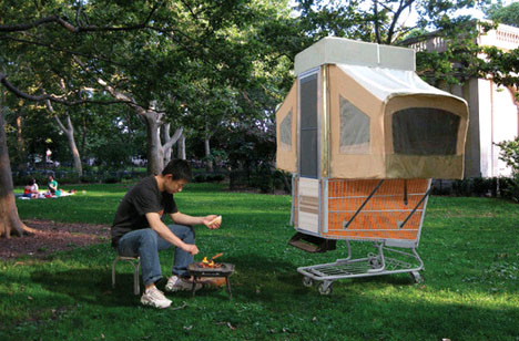 small mobile homes bike trailers shopping cart campers - Small Mobile Houses