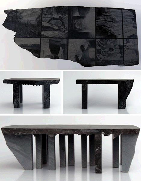 natural rough stone furniture