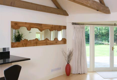 rough reflection natural edge wood framed wall mirrors - Wood Framed Mirrors