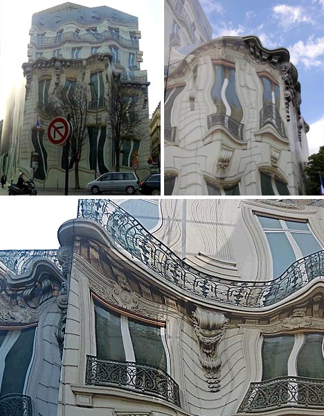optical illusion building mural