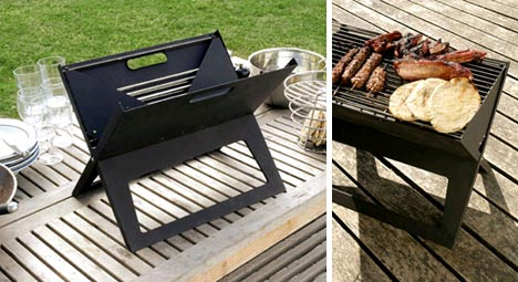 portable camping grill design