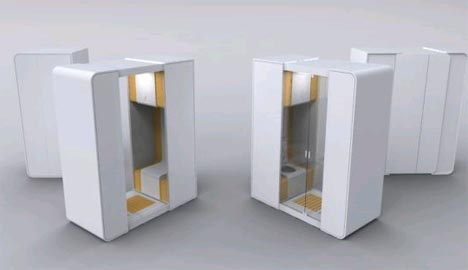 Modular Portable Bathroom For Small Space Interior Design