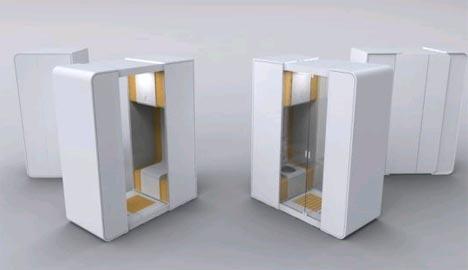 modular portable bathroom for small space interior design
