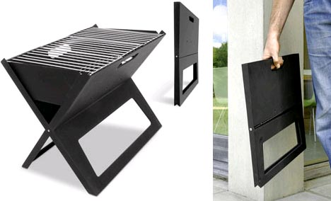 Grilling To Go: Flat Folding, Ultra Portable Outdoor BBQ Grill