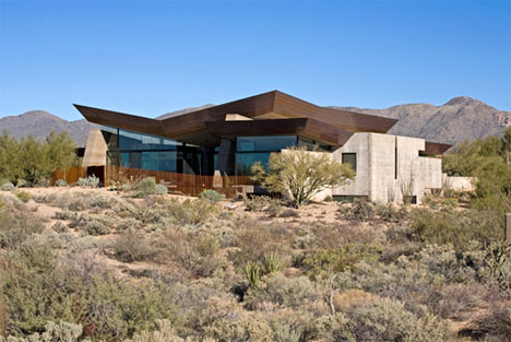 rammed earth desert home