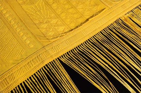 rare gold spider silk cloth
