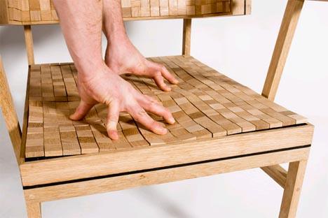 softened hardwood chair